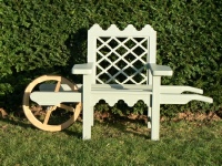 Wheelbarrow chair - Indian Lattice style