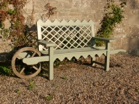 Wheelbarrow seat - Indian Lattice style