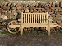 Wheelbarrow seat - Slatted style